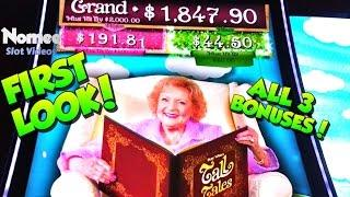 •FIRST LOOK!!• Betty White's Tall Tales Slot Machine - ALL 3 BONUSES! •
