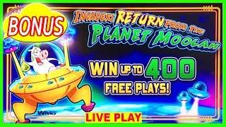 •  INVADERS RETURN FROM THE PLANET MOOLAH  • MAX BET SLOT MACHINE LIVE SLOTS  BONUS