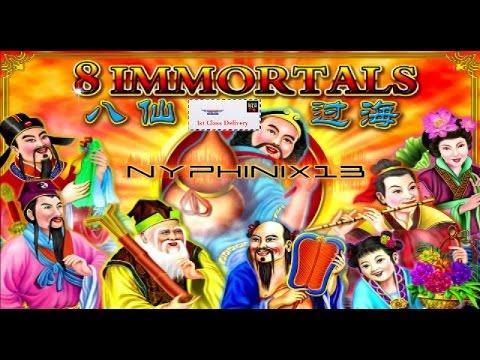 •NEW DELIVERY• Ainsworth | 8 Immortals Slot Line Hit & Bonus NICE WIN