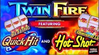 TWIN FIRE Quick Hits/Hot Shots Slot Machine LIVE PLAY and BONUS