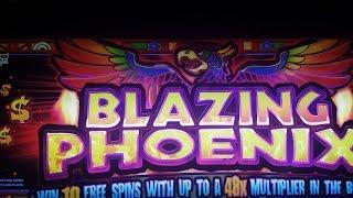 WMS Blazing Phoenix - Line Hit - Max Bet (Quick Video)