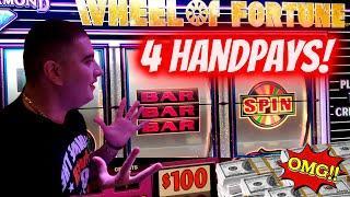 ⋆ Slots ⋆5 HANDPAY JACKPOTS⋆ Slots ⋆! $100 Wheel Of Fortune HANDPAY JACKPOT ⋆ Slots ⋆ High Limit Slo
