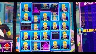 SLOT MACHINE WINS ON THE SIMPSONS • RED QUEEN • CASH EXPLOSION