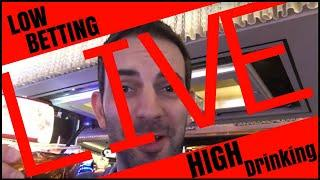 •  LIVE - LOW Betting + HIGH Drinking •• Brian Christopher Slot Fruit Pokie Machines