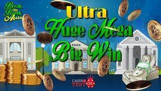 MUST SEE!!! ULTRA HUGE MEGA BIG WIN ON BREAK DA BANK AGAIN SLOT (MICROGAMING) - 1,08€ BET!