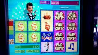 Dean Martin's WILD PARTY. Slot Machine,Free Spin.