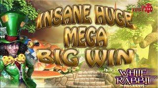 INSANE HUGE MEGA BIG WIN ON WHITE RABBIT SLOT (BTG) - 5€ BET!!!