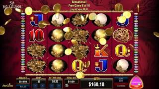 50 Dragons slots - 319 win!