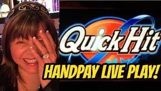 HANDPAY! QUICK HIT SLOT MACHINE-WILD BLUE AND RED