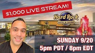 ⋆ Slots ⋆ $1000 Live Slot Play @ Hard Rock Sacramento ⋆ Slots ⋆!!