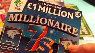 "Big UNCLE 4 Million Scratchcard..5x CASH..""21 Green...LUCKY LINES..PURPLE Million cards"