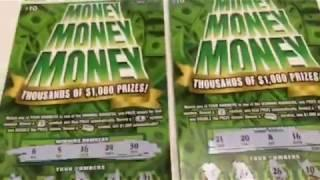 MONEY MONEY MONEY - Scratching off 4 $10 Instant Lottery Ticket