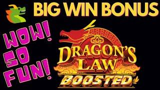 BIG WIN on DRAGON'S LAW BOOSTED SLOT MACHINE POKIE + DRAGON'S LAW RAPID FEVER SLOT MACHINE BONUSES