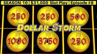 High Limit Dollar Storm EMPEROR's Treasure Slot Machine $25 Bet Bonus   Season 10   Episode #8