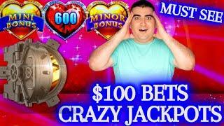 $100 Bets & CRAZY JACKPOTS ! Huge High Limit Slot Play & ⋆ Slots ⋆TONS OF HANDPAY JACKPOTS⋆ Slots ⋆ |  ⋆ Slots ⋆ | EP-11