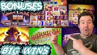 ALL BUFFALO THEMED SLOTS - BONUS ROUNDS AND BIG WINS - Slot Machine Live Play Free spins max bet