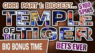⋆ Slots ⋆ Part 1: $100 SPINS! My BIGGEST Tiger Bets EVER ⋆ Slots ⋆ 3 High-Limit Reno Jackpots!!!