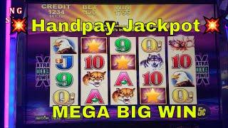 •Handpay Jackpot•  Buffalo Slot Machine Bonus MEGA BIG WIN. Live Play with Handpay Alert