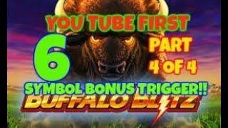 BUFFALO BLITZ **6 BONUS SYMBOL TRIGGER!**FIRST TIME ON YOU TUBE & FREE SPINS RECORD! MEGA WIN