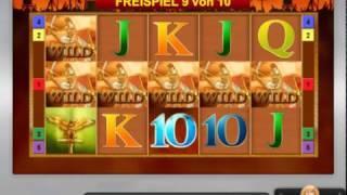 Roman Legion Slot (Bally Wulff) - Freispiele auf 1 Euro mit Wildline - 1303-facher Gewinn