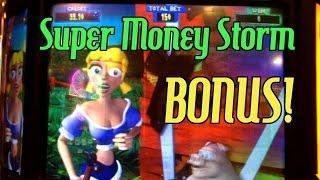 BONUS! • FREE SPINS!! • SUPER MONEY STORM SLOT MACHINE