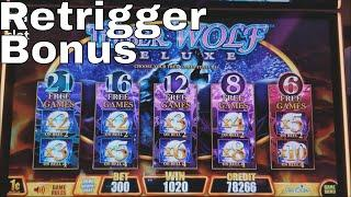 Timber Wolf Slot Machine • Bonus Win• w/ Retrigger !!! $3 Bet •Live Play•