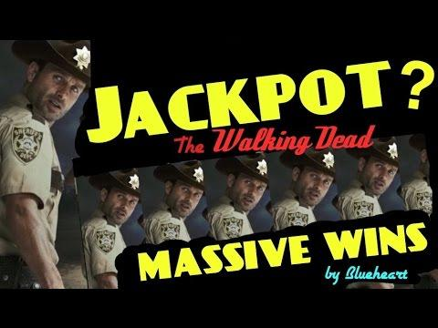 ** JACKPOT? ** The WALKING DEAD slot machine Max Bet MASSIVE BONUS WINS!