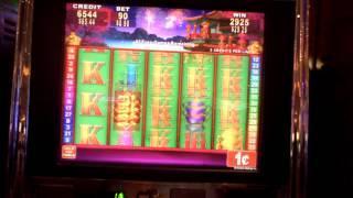 China Shores long slot machine bonus, okay win.