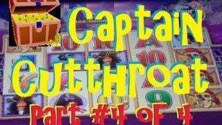 Captain Cutthroat Slot Machine Bonus - THE BIG WIN!! (Part 4 Of 4) ~ Aristocrat (Captain Cutthroat)