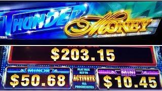 **NEW GAME** (AINSWORTH)THUNDER MONEY LAS VEGAS #MAX BET #LIVE PLAY #PROGRESSIVE HITS