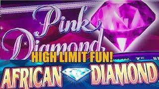 HIGH LIMIT SLOT MACHINE FUN-LIVE PLAY-AFRICAN DIAMOND-PINK DIAMONDS