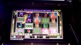 Slot machine bonus win at Revel Casino in AC on Ancient Arcadia