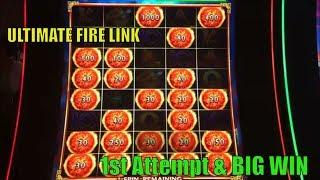 •BIG WIN !! •Ultimate FIRE LINK Slot machine (Bally) 1st Attempt ! Live play & Big win Bonuses •彡栗スロ