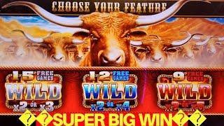 Longhorn Deluxe Slot Machine SUPER BIG WIN Max Bet Bonus   Live Slot BIG WIN   Over 140x Bonus Won