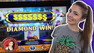Diamond Win! Thunder Stampede Slot Machine at Wind Creek!