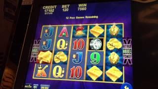 Aristocrat Stack of Gold Slot Machine Bonus & Retriggers