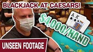 ★ Slots ★ 1st TIME EVER BLACKJACK at Caesars! ★ Slots ★ Up to $4,000 Per Hand - INSANITY