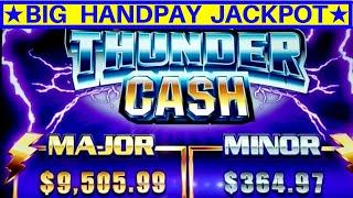 High Limit THUNDER CASH Slot Machine HANDPAY JACKPOT | High Limit EUREKA Lock It Link Max Bet Bonus