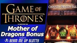 Game of Thrones slot - Mother of Dragons Bonus Feature in New Aristocrat Arc-Double game