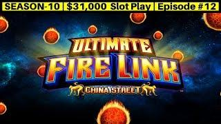 Ultimate Fire Link CHINA STREET Slot Machine Live Play Up To $30 a Spin | Season 10 | Episode #13