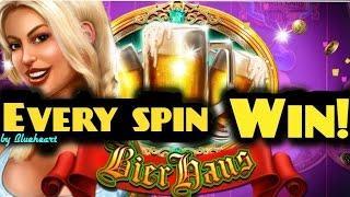 BIER HAUS slot machine 45 spins BONUS WIN!