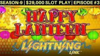 High Limit HAPPY LANTERN Lighting Link Slot Machine Live Play & Bonus  Episode #3