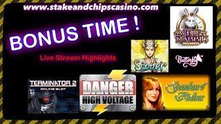 SLOTS - BONUS WINS - LIVE STREAM HIGHLIGHTS • ONLINE CASINO CASUMO