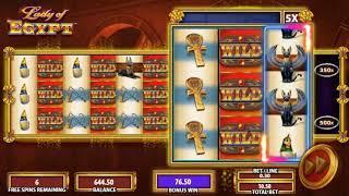 Lady of Egypt slot - 339 win!