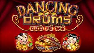 SUPER BIG WIN on DANCING DRUMS SLOT MACHINE POKIE BONUSES