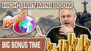 ⋆ Slots ⋆ HIGH-LIMIT Brazil Mini Boom! ⋆ Slots ⋆ Big Red and Wolf Dollars Slot Machines!