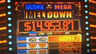 JACKPOT on LIVE•Ultra Mega Melt Down Dollar Slot Max, Double Jackpot Lion's Share Barona Casino