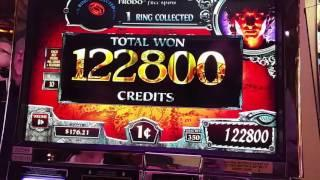 MASSIVE Hand Pay Jackpot Lord of the Rings Slot Machine