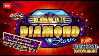 •NEW DELIVERY•  Diamond Storm Flaming Hits Slot Bonus WINS!