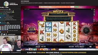 CASINO AND SLOTS LIVE - Medusa Megaways !giveaway is live • (06/05/19)